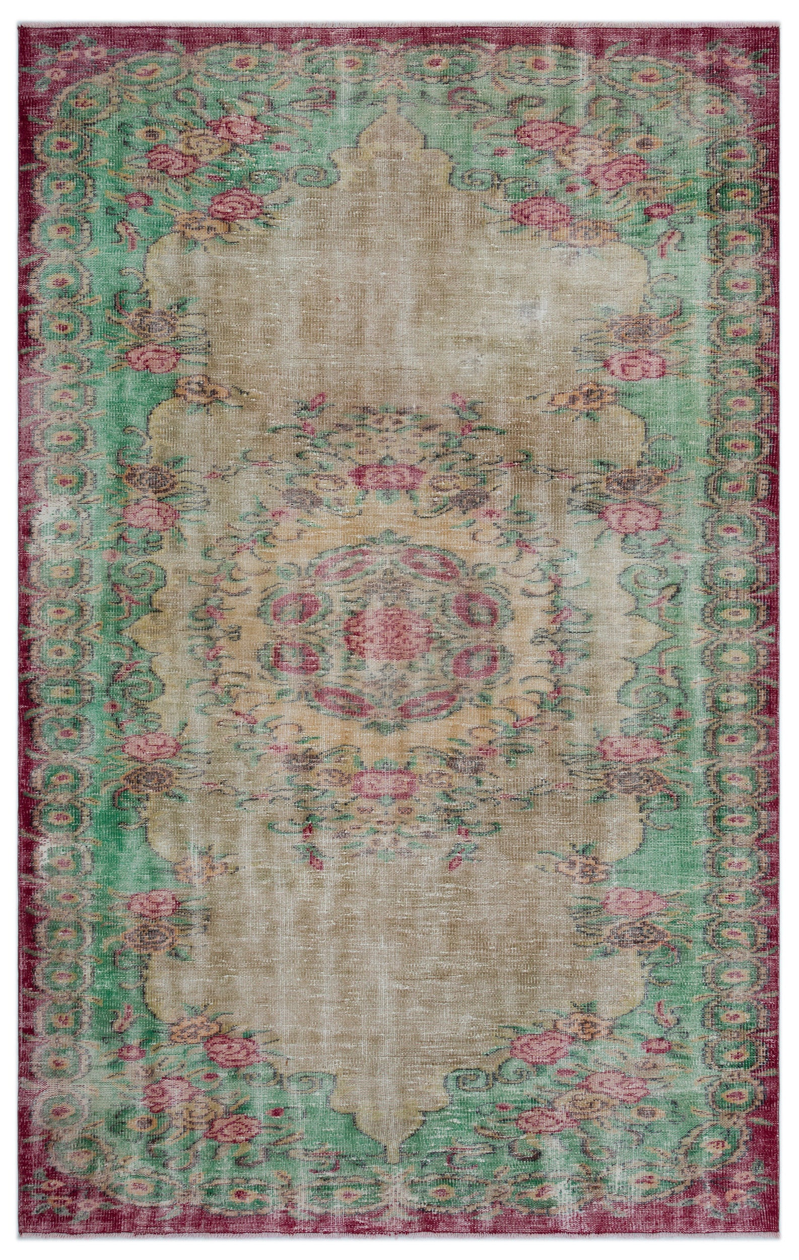 Retro Over Dyed Vintage Rug 6'0'' x 9'7'' ft 184 x 292 cm