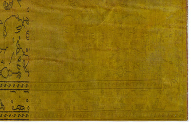Yellow Over Dyed Vintage Rug 5'3'' x 7'12'' ft 160 x 243 cm
