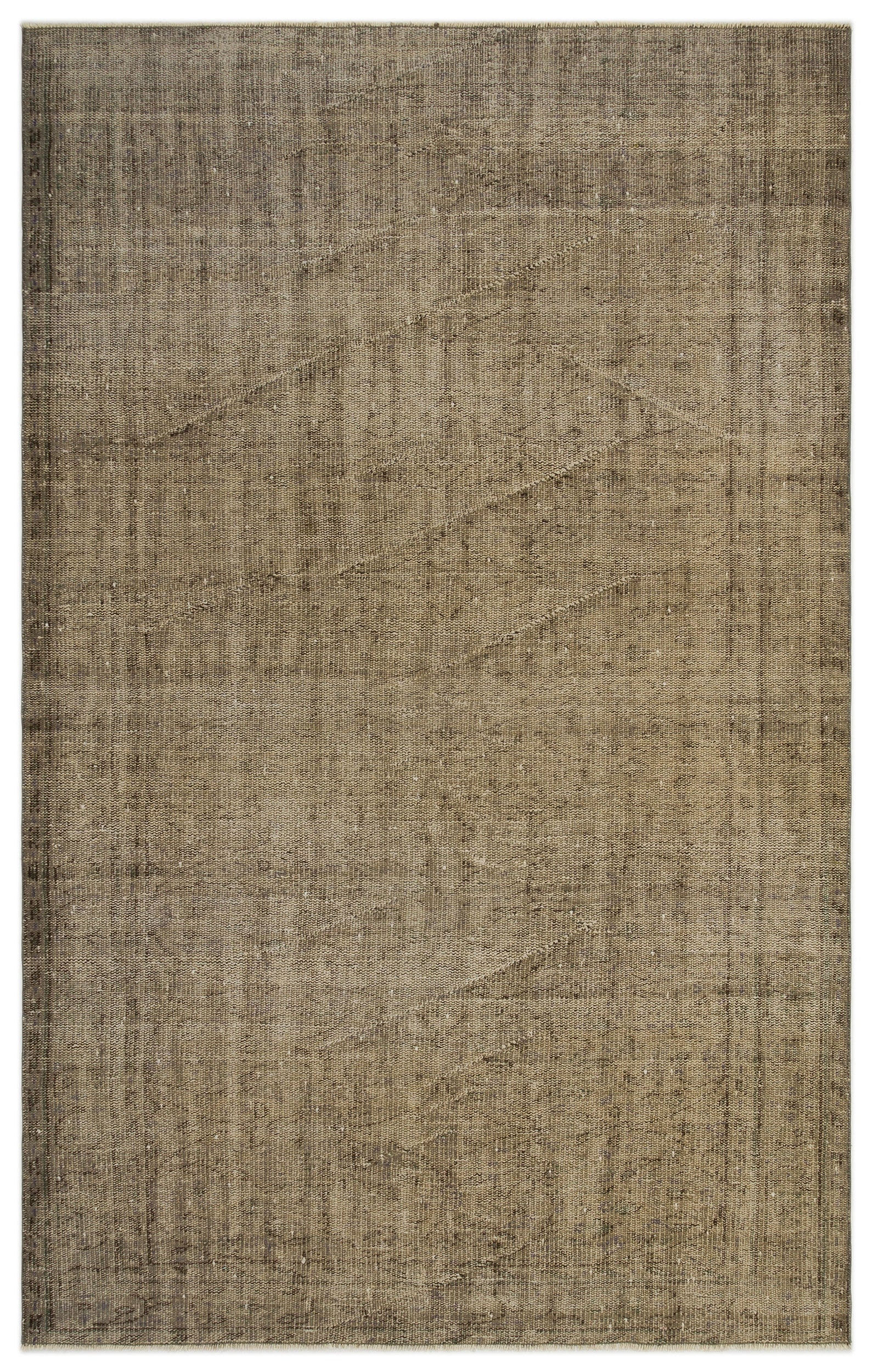 Brown Over Dyed Vintage Rug 4'12'' x 7'10'' ft 152 x 240 cm