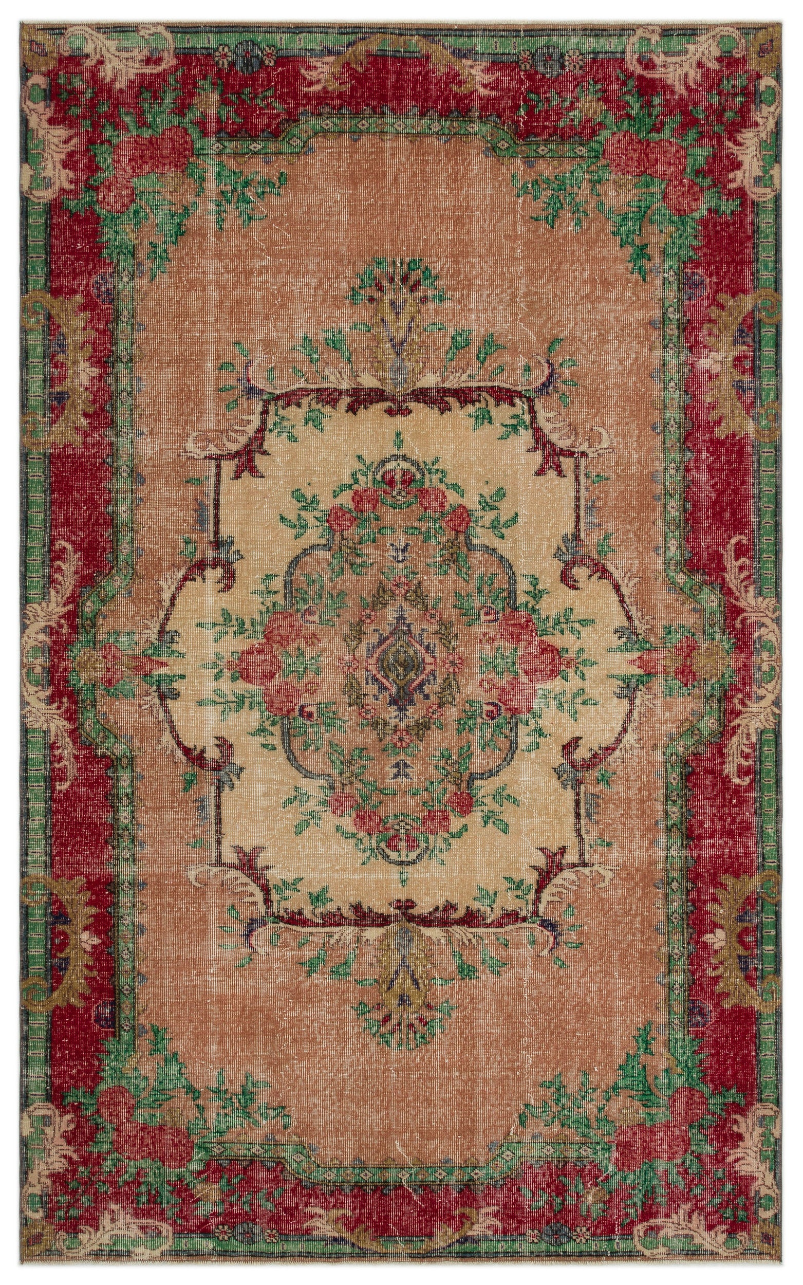 Naturel Over Dyed Vintage Rug 5'9'' x 9'3'' ft 175 x 282 cm
