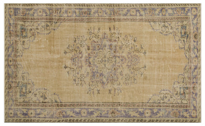 Naturel Over Dyed Vintage Rug 5'5'' x 8'6'' ft 164 x 259 cm