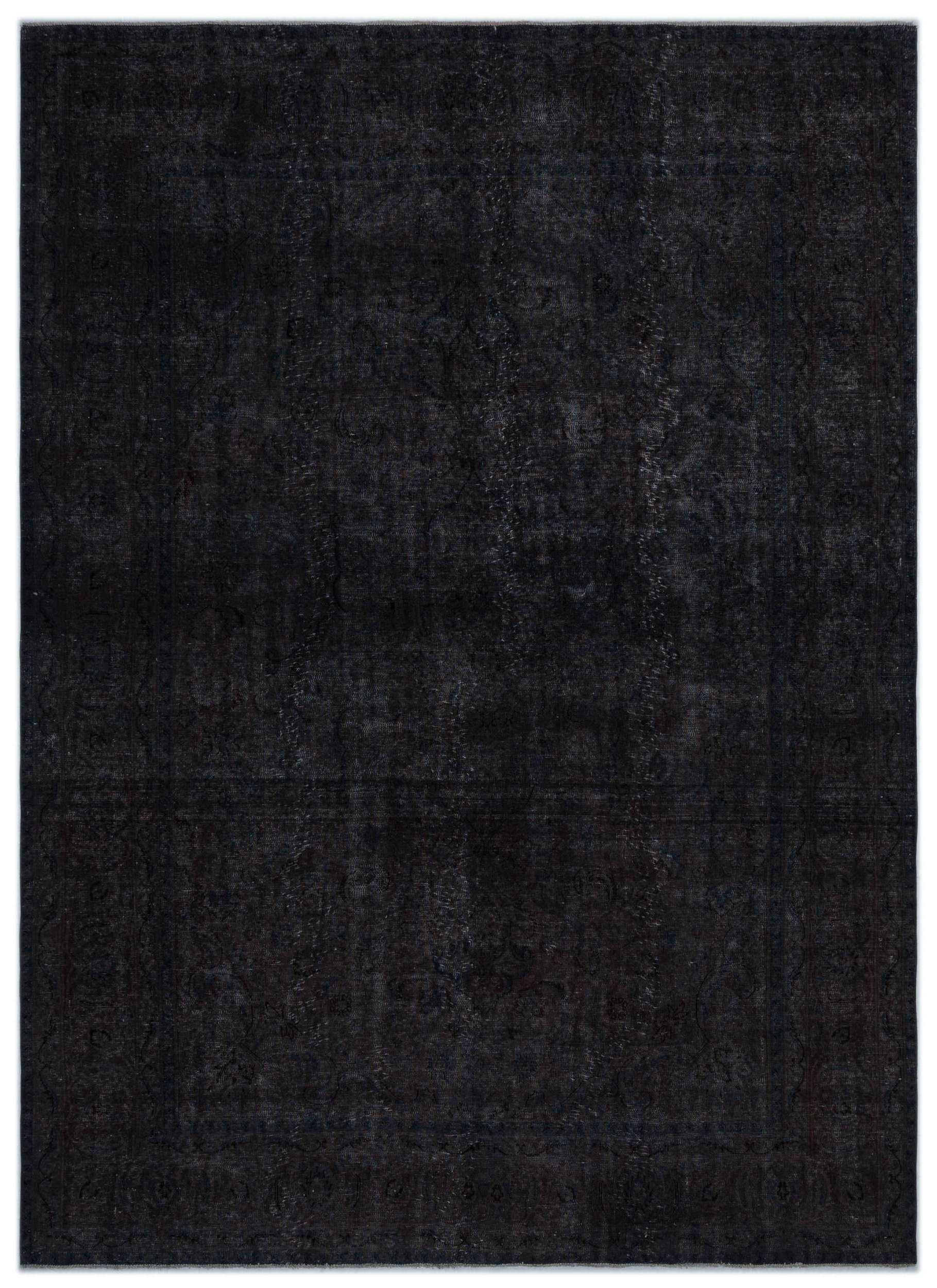 Gray Over Dyed Vintage XLarge Rug 7'9'' x 10'9'' ft 235 x 328 cm
