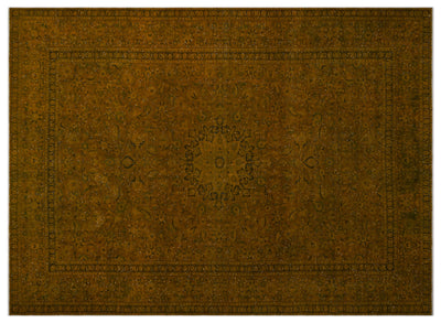Yellow Over Dyed Vintage XLarge Rug 9'8'' x 13'4'' ft 294 x 406 cm
