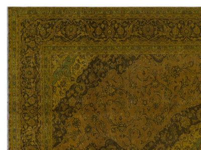 Yellow Over Dyed Vintage XLarge Rug 9'6'' x 12'10'' ft 289 x 390 cm