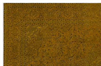 Yellow Over Dyed Vintage XLarge Rug 9'3'' x 14'2'' ft 282 x 431 cm