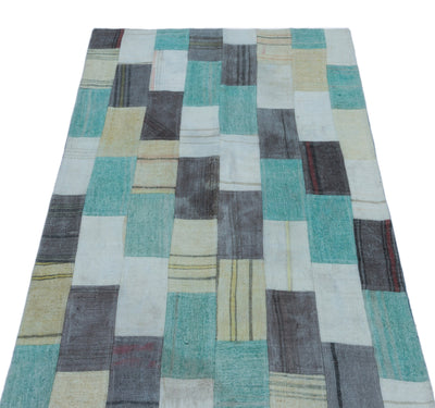 Mixed Over Dyed Kilim Patchwork Unique Rug 2'9'' x 5'1'' ft 83 x 154 cm
