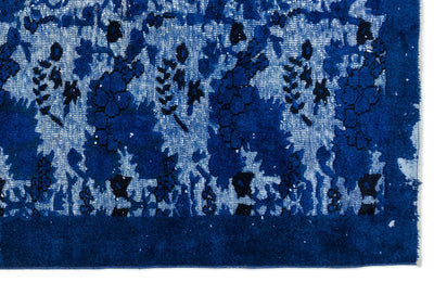 Blue Over Dyed Carved Rug 6'4'' x 10'0'' ft 192 x 305 cm