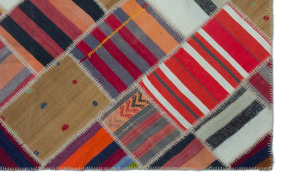 Naturel Over Dyed Kilim Patchwork Unique Rug 5'1'' x 8'0'' ft 155 x 244 cm