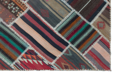 Naturel Over Dyed Kilim Patchwork Unique Rug 5'1'' x 7'11'' ft 156 x 242 cm