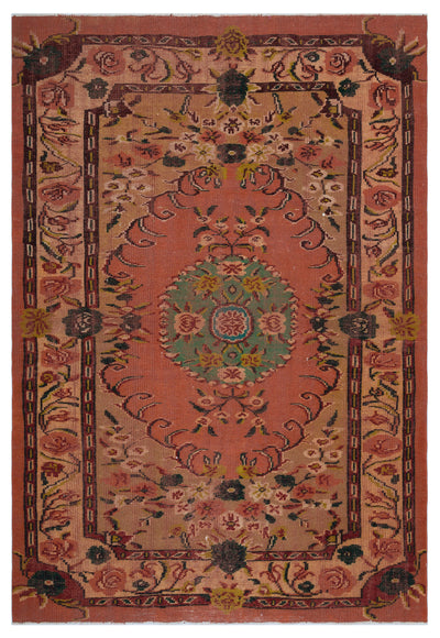Naturel Over Dyed Vintage Rug 5'11'' x 8'6'' ft 180 x 259 cm