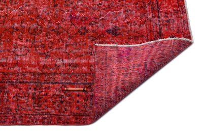 Red Over Dyed Vintage Rug 5'1'' x 8'9'' ft 156 x 266 cm