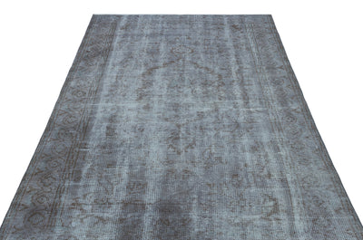 Blue Over Dyed Vintage Rug 5'3'' x 8'5'' ft 159 x 256 cm