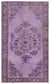 Purple Over Dyed Carved Rug 5'3'' x 8'9'' ft 161 x 267 cm