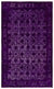 Purple Over Dyed Carved Rug 5'2'' x 8'4'' ft 157 x 254 cm