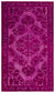 Fuchsia Over Dyed Carved Rug 5'3'' x 8'8'' ft 161 x 263 cm