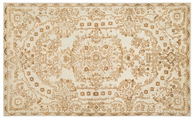 Beige Over Dyed Carved Rug 6'2'' x 9'12'' ft 189 x 304 cm