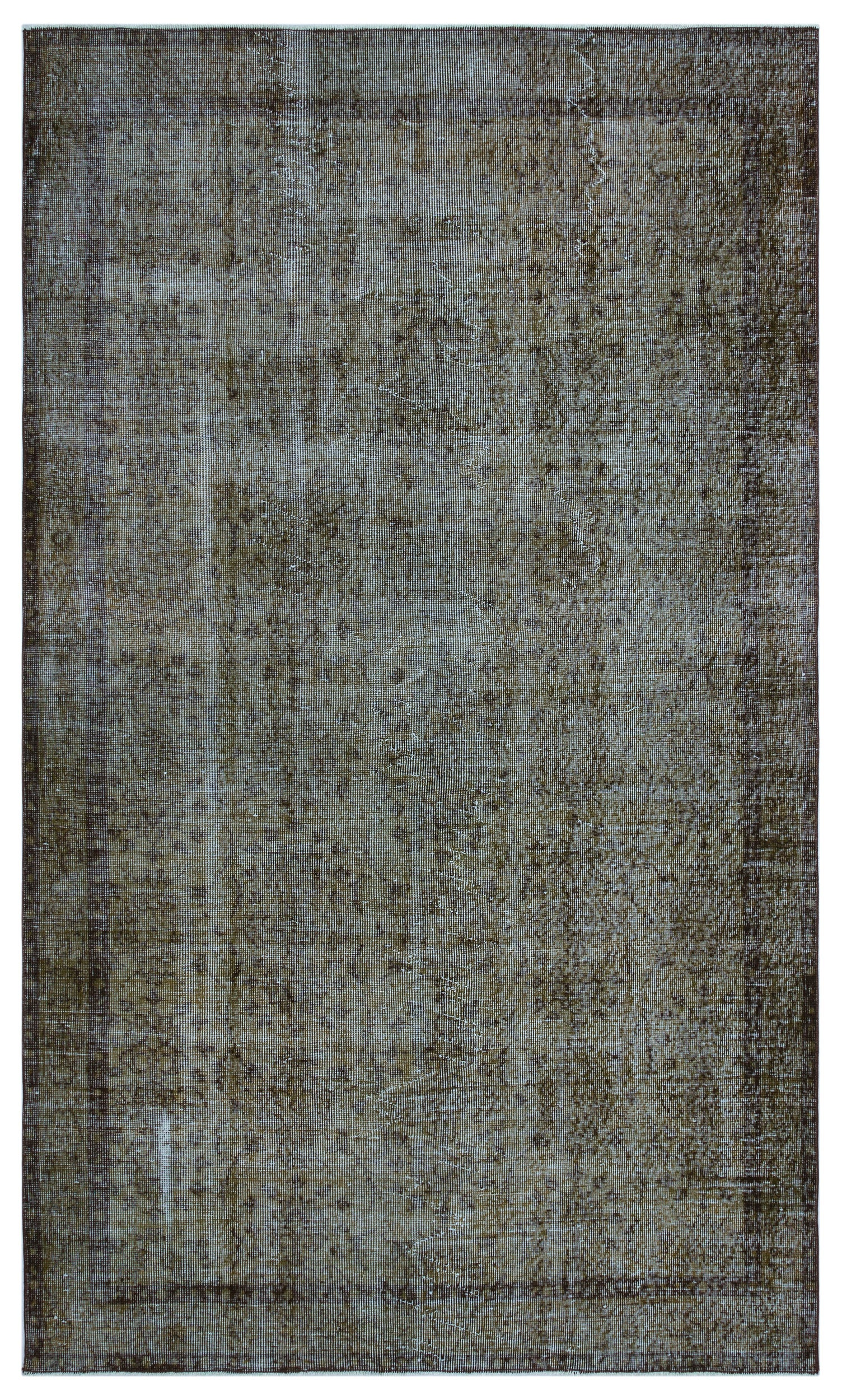 Brown Over Dyed Vintage Rug 5'1'' x 8'9'' ft 156 x 266 cm
