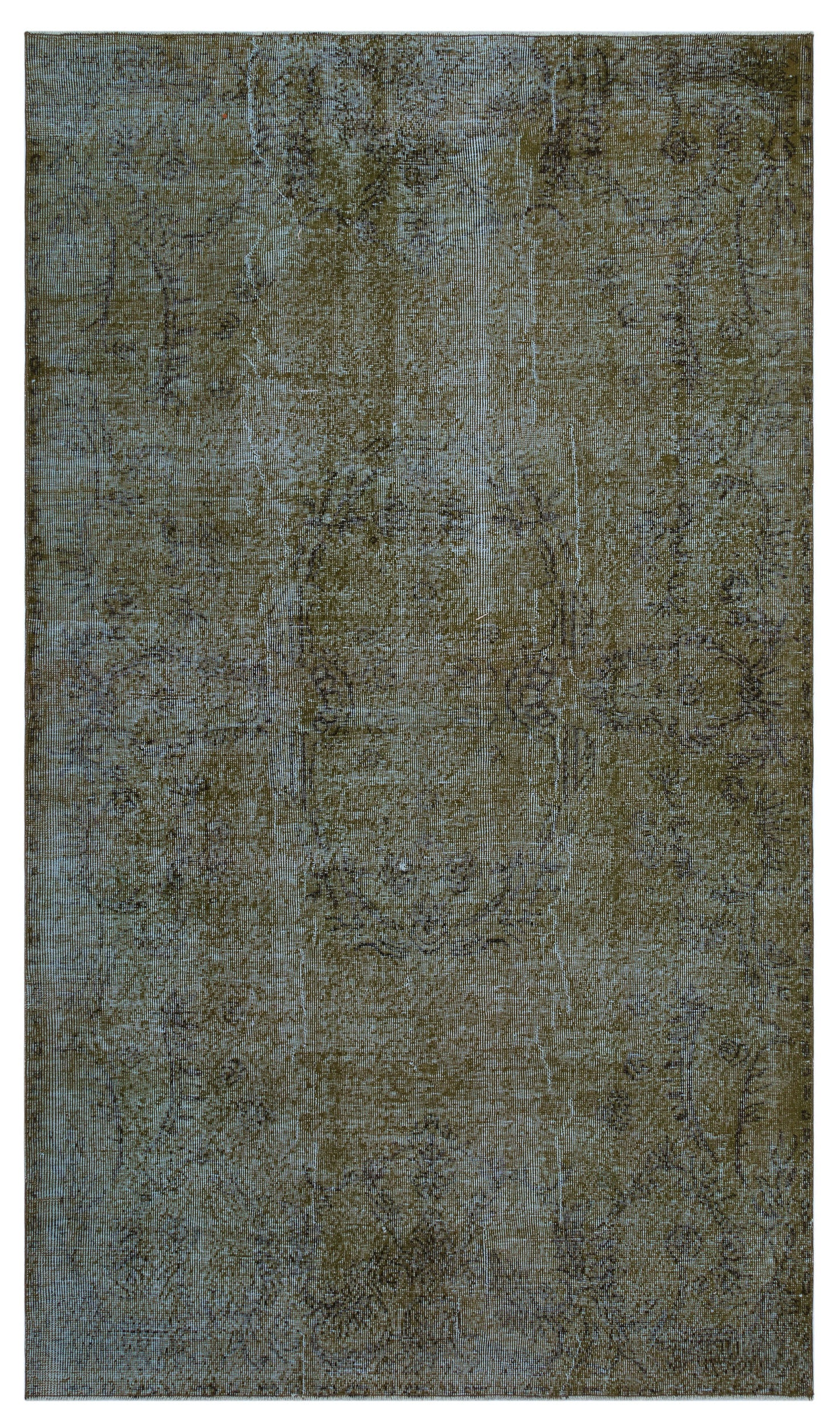 Brown Over Dyed Vintage Rug 5'2'' x 8'12'' ft 158 x 274 cm