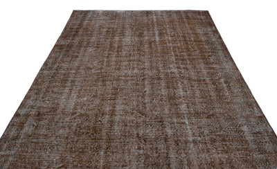 Brown Over Dyed Vintage Rug 7'1'' x 10'12'' ft 217 x 335 cm