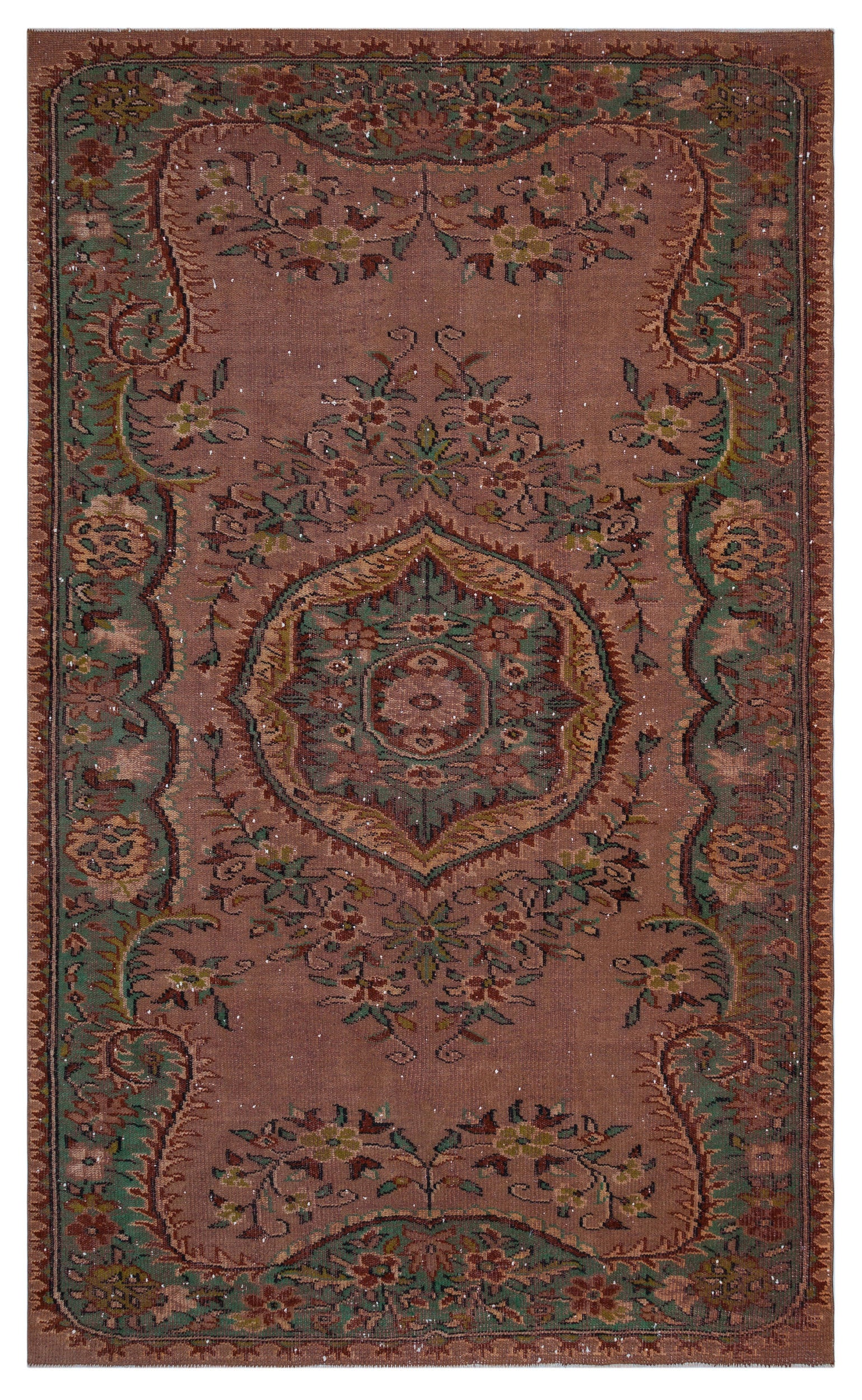 Naturel Over Dyed Vintage Rug 6'1'' x 9'11'' ft 185 x 303 cm