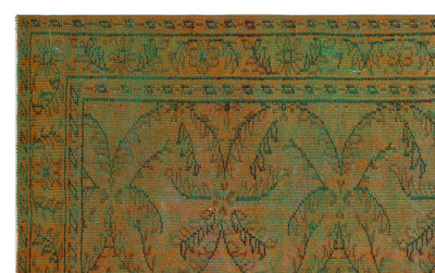 Green Over Dyed Vintage Rug 5'5'' x 8'6'' ft 166 x 258 cm