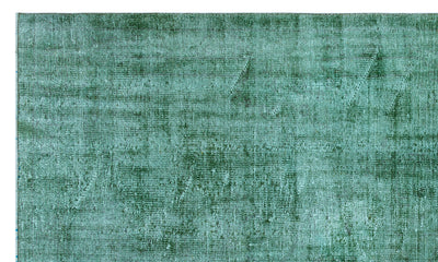 Green Over Dyed Vintage Rug 5'9'' x 9'3'' ft 174 x 281 cm