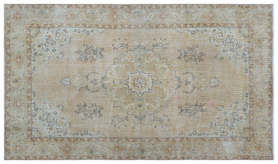 Beige Over Dyed Vintage Rug 5'10'' x 10'0'' ft 179 x 305 cm