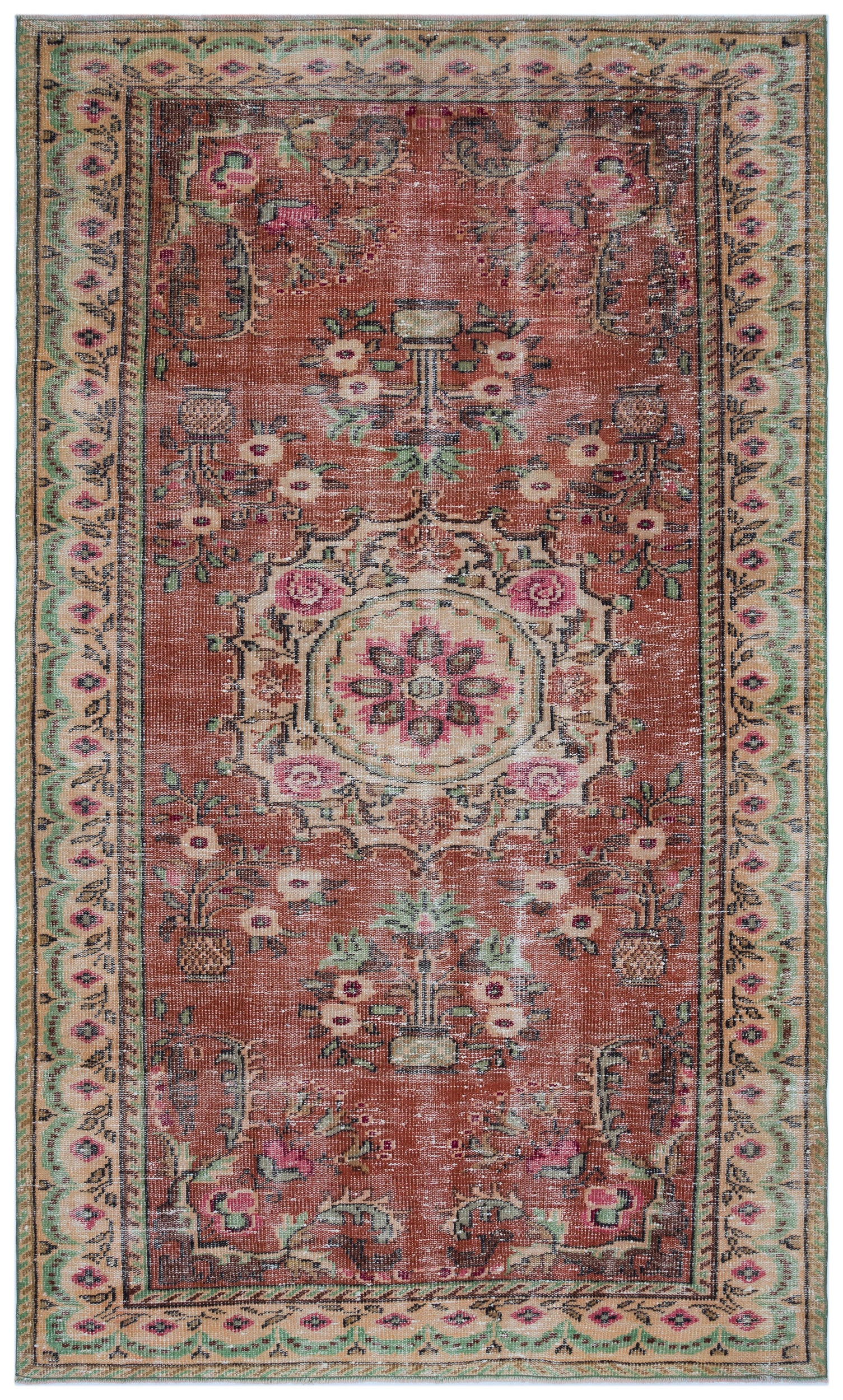Retro Over Dyed Vintage Rug 5'4'' x 8'10'' ft 162 x 270 cm