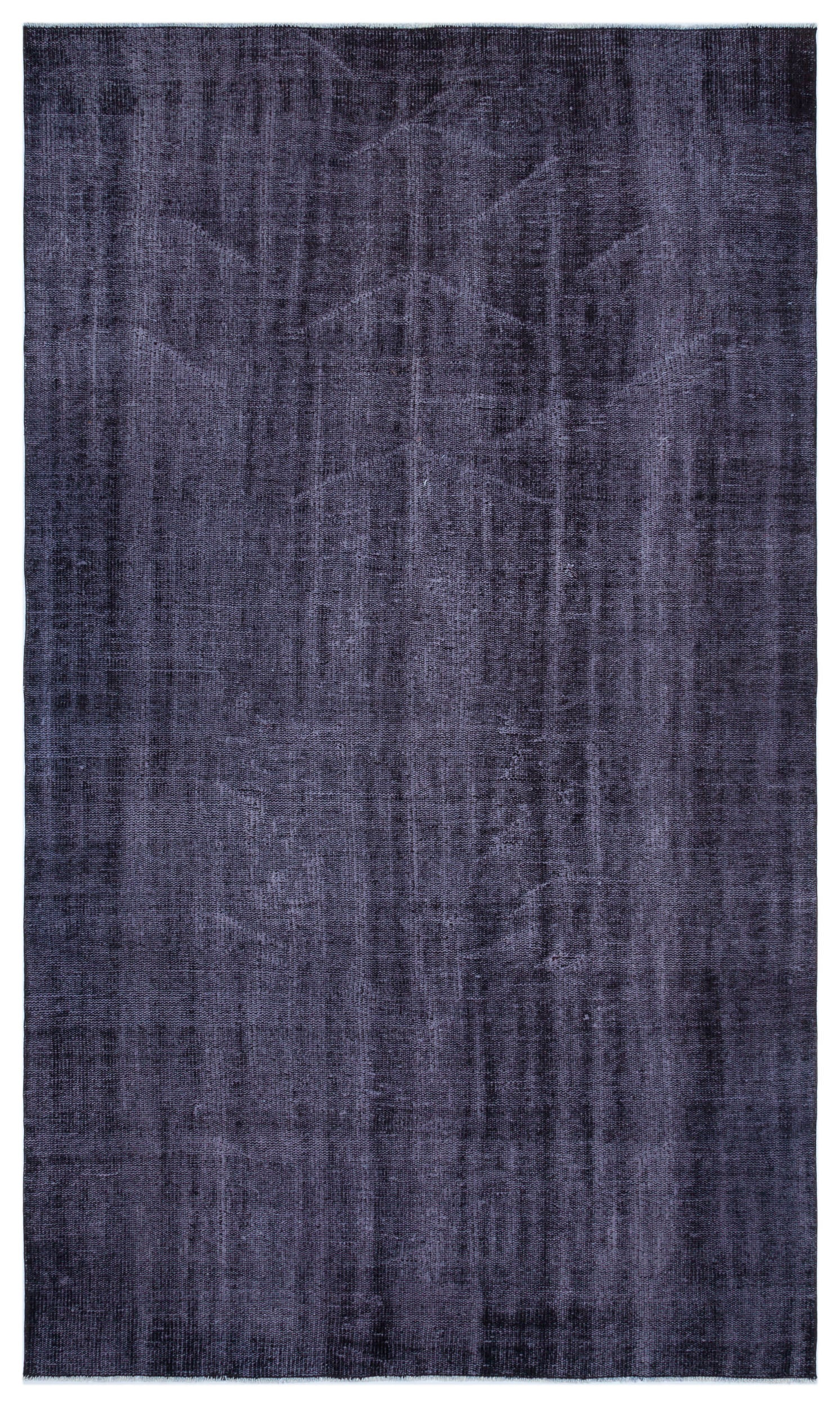 Purple Over Dyed Vintage Rug 4'11'' x 8'8'' ft 150 x 265 cm
