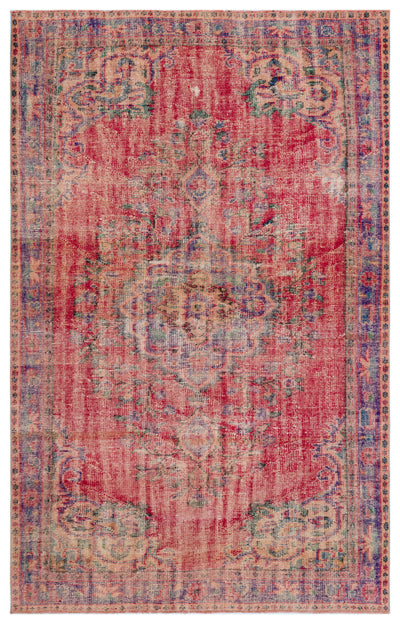 Naturel Over Dyed Vintage Rug 5'8'' x 8'10'' ft 172 x 270 cm