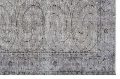 Gray Over Dyed Vintage Rug 5'10'' x 8'11'' ft 177 x 272 cm