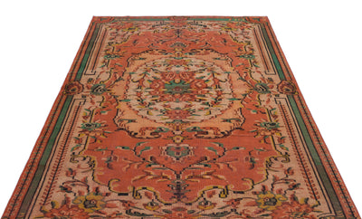 Naturel Over Dyed Vintage Rug 5'9'' x 8'8'' ft 175 x 263 cm