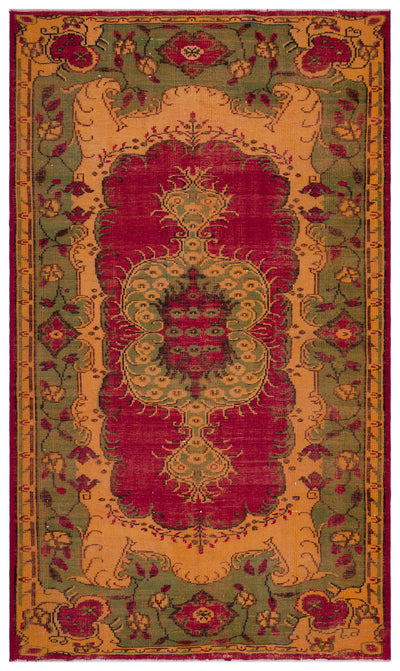 Retro Over Dyed Vintage Rug 6'2'' x 10'6'' ft 189 x 320 cm