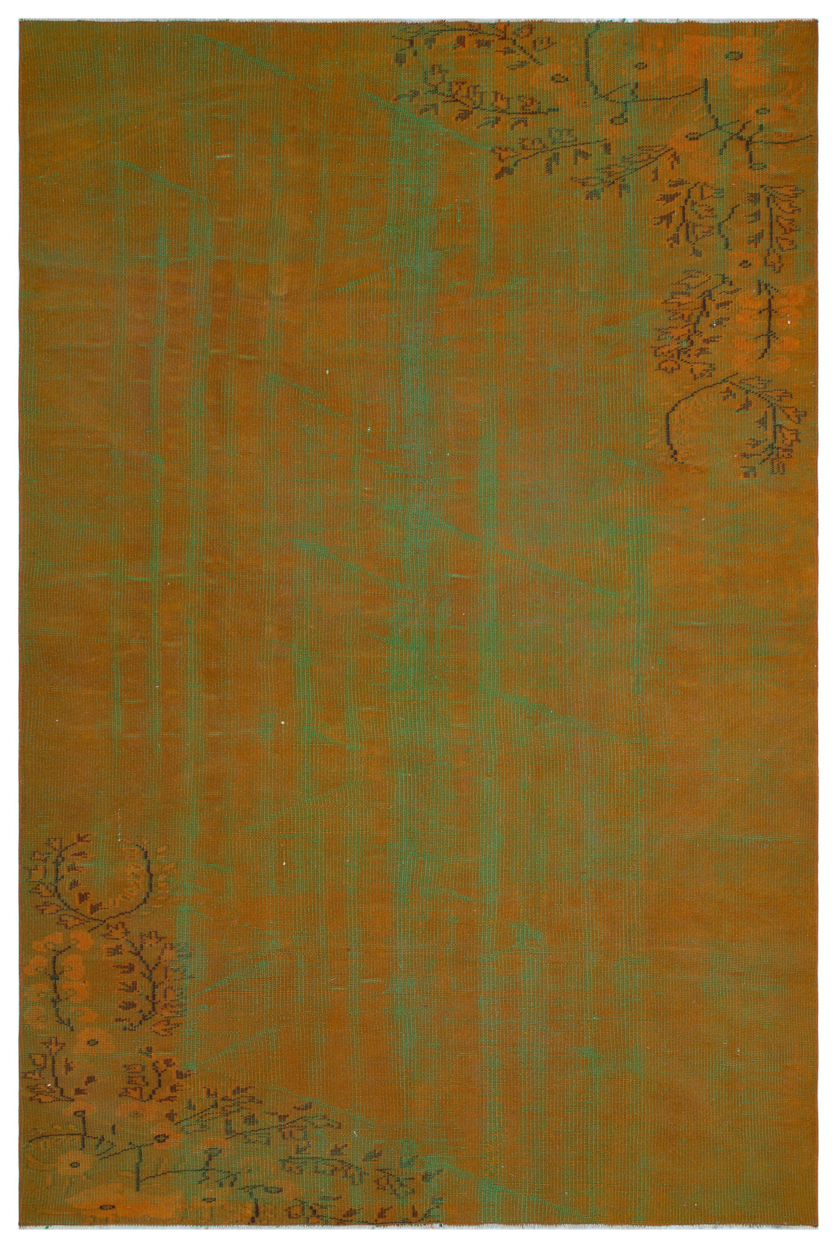 Retro Over Dyed Vintage Rug 5'9'' x 8'8'' ft 175 x 263 cm