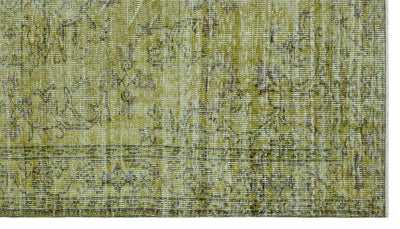 Green Over Dyed Vintage Rug 5'1'' x 8'10'' ft 156 x 270 cm