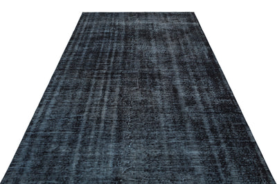 Black Over Dyed Vintage Rug 5'5'' x 9'3'' ft 165 x 281 cm