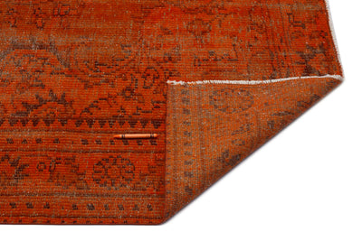 Brown Over Dyed Vintage Rug 5'8'' x 9'2'' ft 172 x 280 cm
