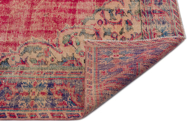 Naturel Over Dyed Vintage Rug 5'10'' x 8'10'' ft 179 x 270 cm