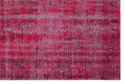 Fuchsia Over Dyed Vintage Rug 5'9'' x 8'11'' ft 176 x 273 cm
