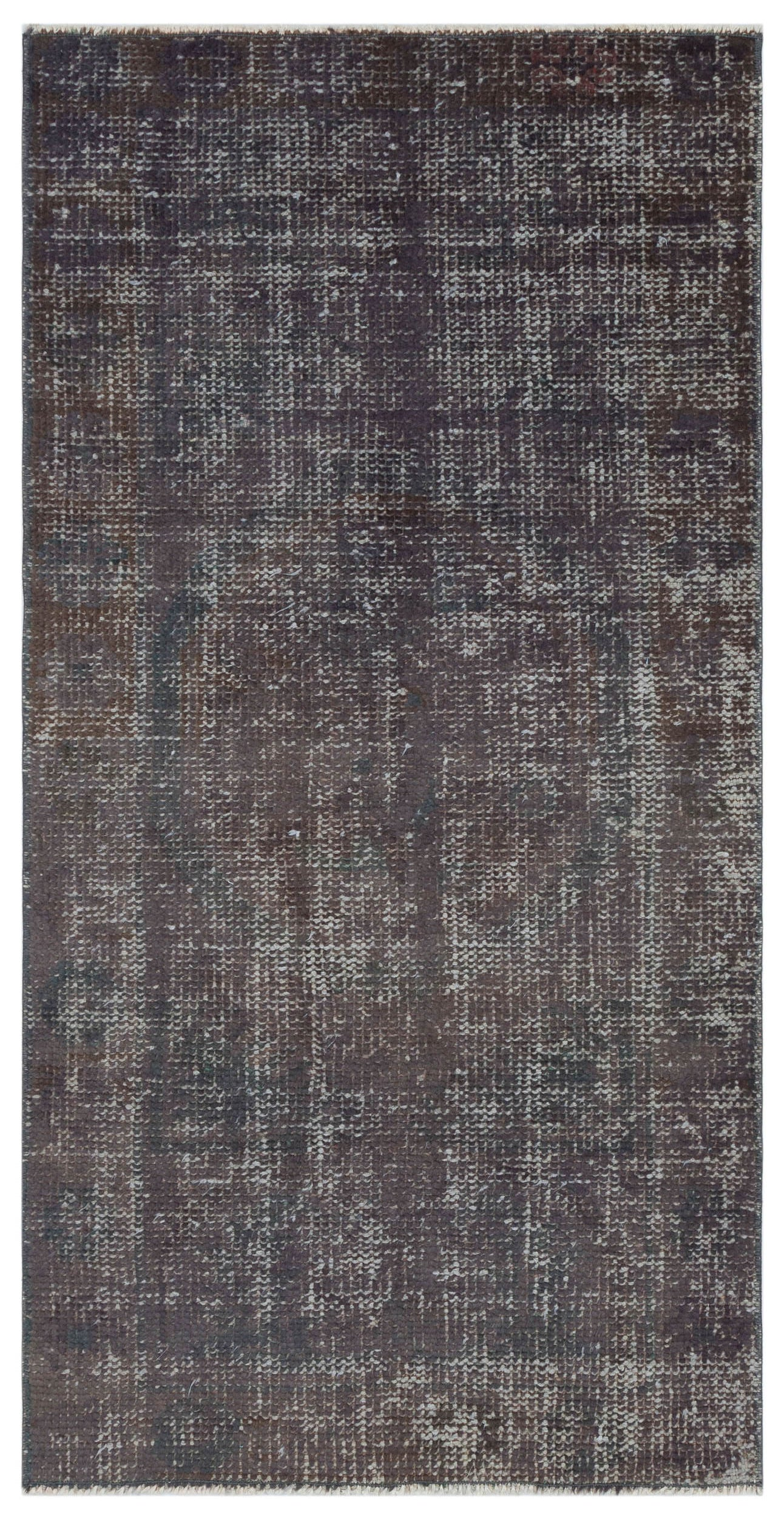Gray Over Dyed Vintage Rug 2'6'' x 4'10'' ft 75 x 148 cm