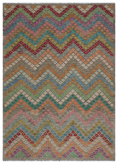 Naturel Over Dyed Kandahar Rug 5'10'' x 8'0'' ft 178 x 244 cm
