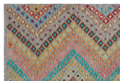 Naturel Over Dyed Kandahar Rug 5'7'' x 8'4'' ft 170 x 255 cm