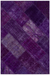 Purple Over Dyed Patchwork Unique Rug 3'11'' x 5'11'' ft 120 x 180 cm