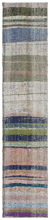 Chaput Over Dyed Kilim Rug 2'0'' x 9'8'' ft 62 x 294 cm
