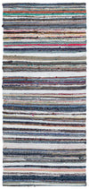 Chaput Over Dyed Kilim Rug 2'7'' x 5'8'' ft 78 x 172 cm