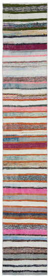 Chaput Over Dyed Kilim Rug 1'10'' x 11'2'' ft 57 x 340 cm