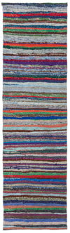 Chaput Over Dyed Kilim Rug 2'4'' x 8'6'' ft 72 x 260 cm