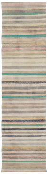 Chaput Over Dyed Kilim Rug 2'6'' x 8'10'' ft 75 x 270 cm