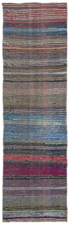 Chaput Over Dyed Kilim Rug 2'4'' x 7'9'' ft 70 x 237 cm