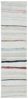Chaput Over Dyed Kilim Rug 2'5'' x 8'10'' ft 73 x 270 cm